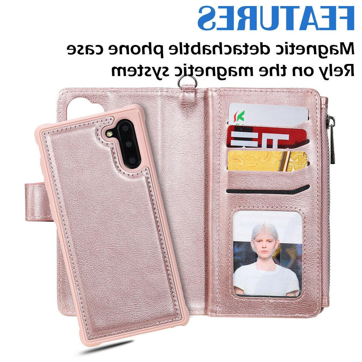 Removable Leather Case Samsung S10 S8 Note 10 9
