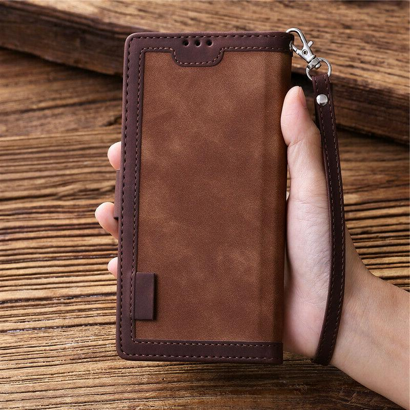 Retro Wallet Leather Cover For A51 A20S S10e