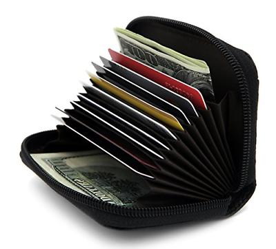 rfid blocking genuine leather credit card case