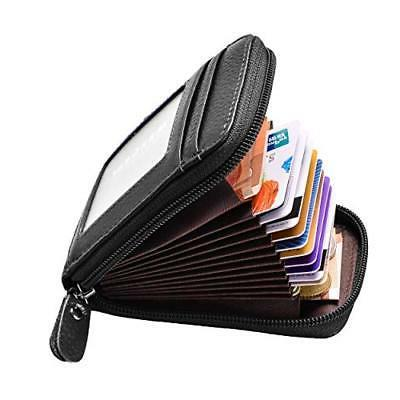 rfid blocking leather wallet credit