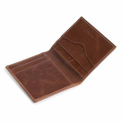 Alpine Swiss Blocking Slim Leather Front