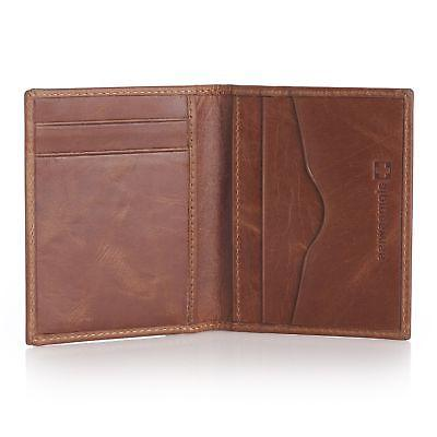 Alpine Swiss RFID Slim Business Leather Front