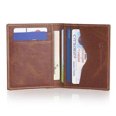 rfid blocking slim business card case leather