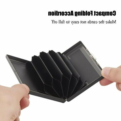 Men Anti-scan Case Slim RFID Blocking Wallet ID Credit US