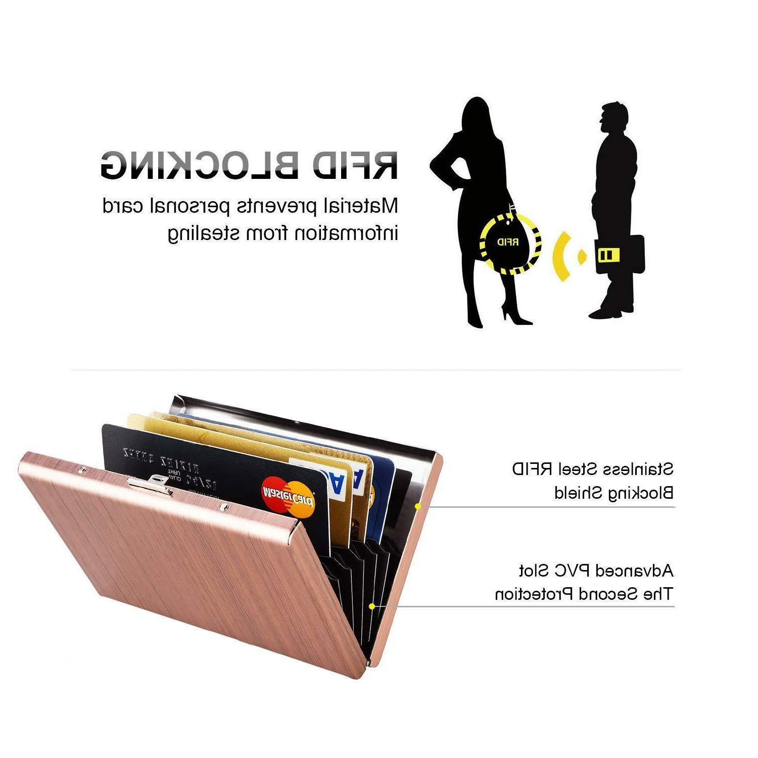 RFID Credit Card for Women,MaxGear Card Case Stainless