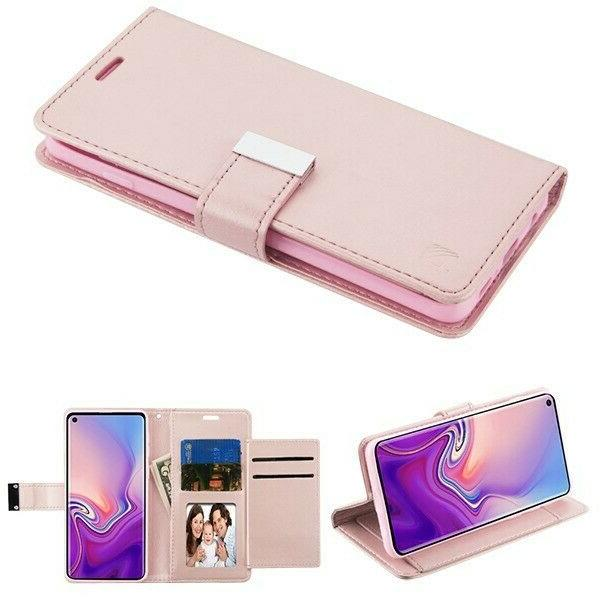 Rose Gold Leather Wallet Card Flip Case Cover Pouch For Appl