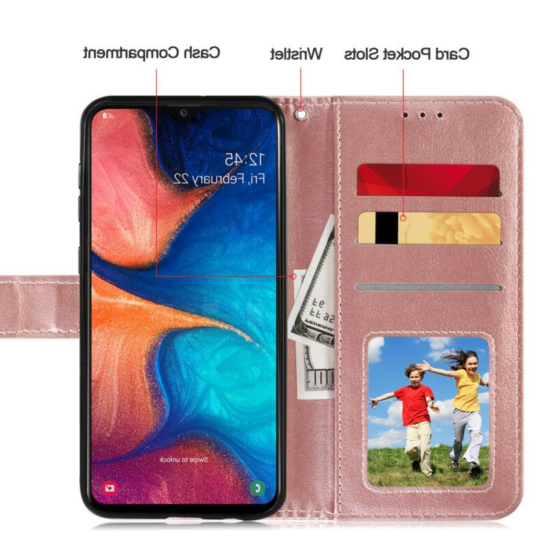 For Samsung Galaxy A20 A50 Leather Magnetic