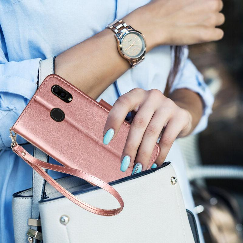 For A20 A50 Leather Shockproof Magnetic
