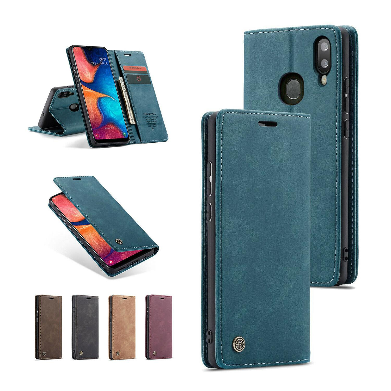 For Samsung Galaxy A20 A30 Leather Wallet Phone Cover Stand