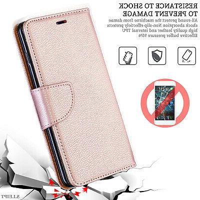 For Samsung A50 Magnetic Leather Flip Wallet Case Cover