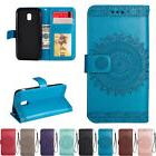 For Samsung Galaxy J3 J5 J7 S6 S7 S9+ Wallet Leather Card Fl