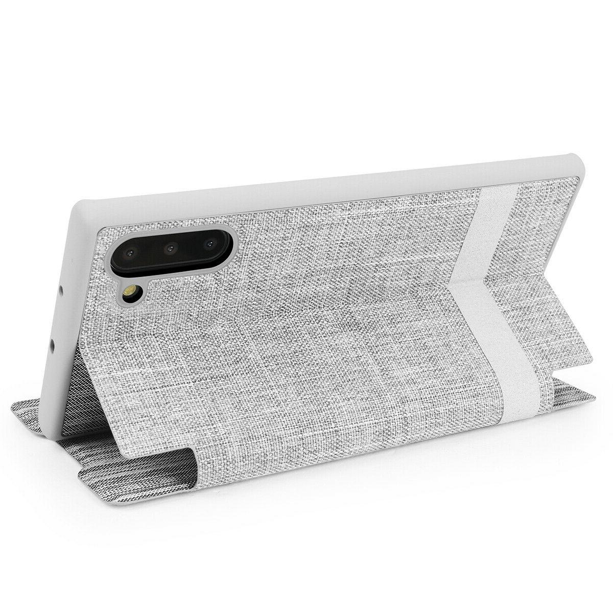 Samsung Note Plus Slim Wallet Case Stand Cover