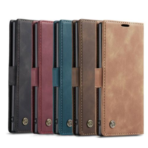 For Samsung Note 10 Plus Leather Magnetic Flip Case