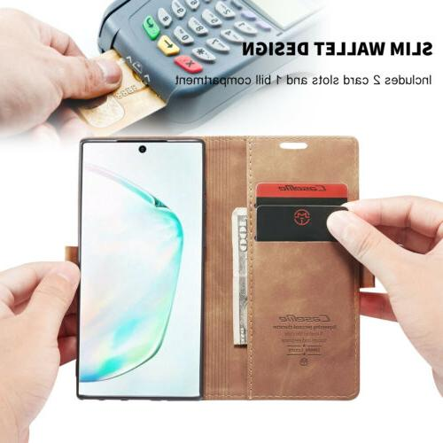 For Samsung Galaxy Note 10 Leather Magnetic Wallet Case Cover
