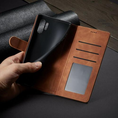 For Magnetic Leather Flip Stand Cover
