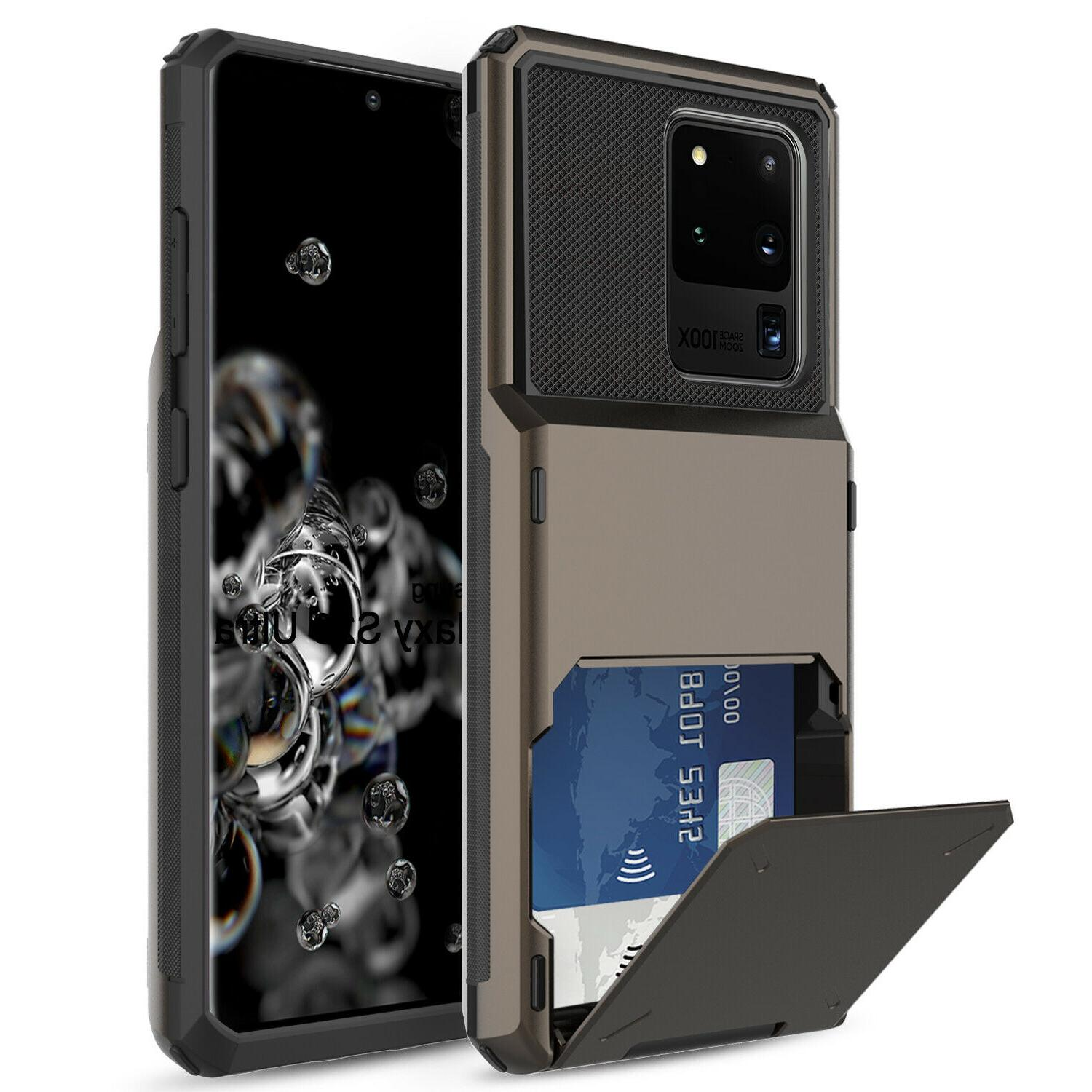 For Samsung Galaxy Ultra 5G/Note 10+/S10 Case Card Holder