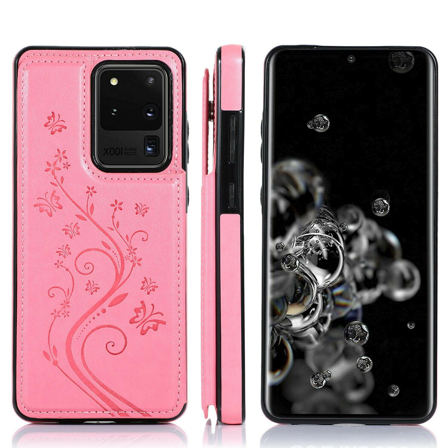 10 Plus S20 S10S9S8S7 Magnetic Leather Cover