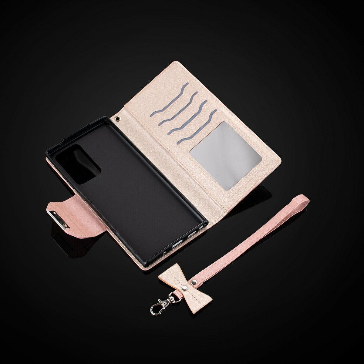 For Galaxy Note 20 Leather Wallet Stand Protection