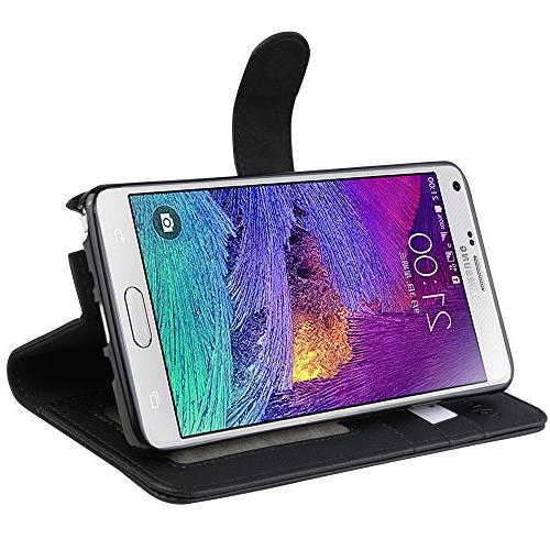 Samsung Galaxy Case, Abacus24-7 Wallet with Credit Card Holder Pockets and Blocking Flip Cover,