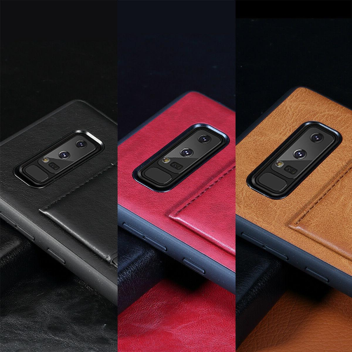 For 8 Leather Slots Kickstand