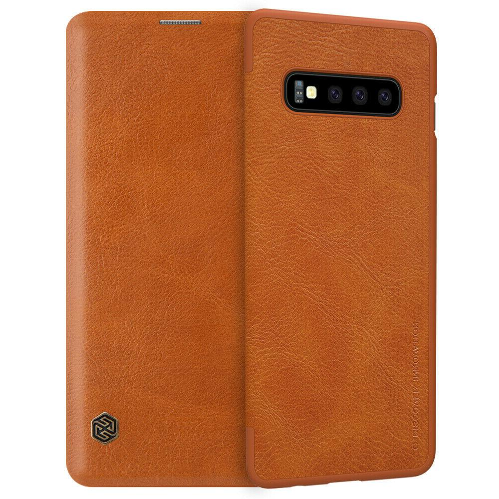 For Samsung S10 Plus/S10e/Note 9/8/S9 Flip Card Slot Leather