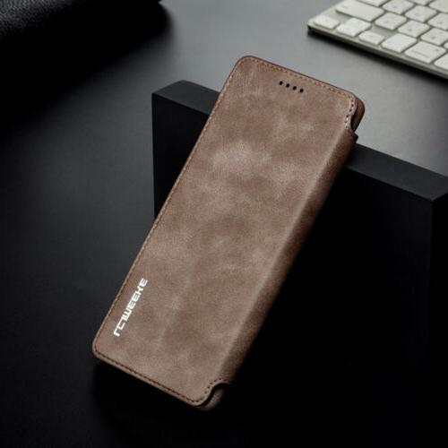 For Galaxy Note 9 Plus Leather Card Slots Cover