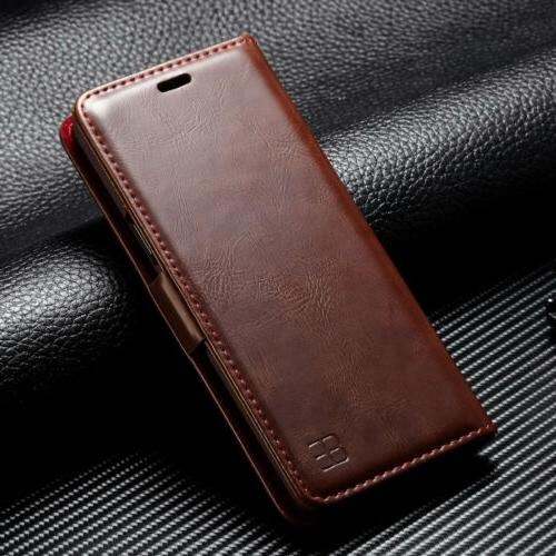 For Note Luxury Wallet Flip Stand Case
