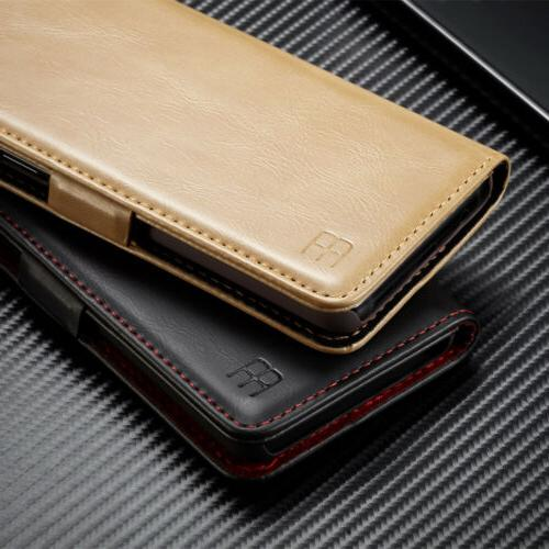 For Galaxy Note 9 S9 Luxury Leather Stand Cover