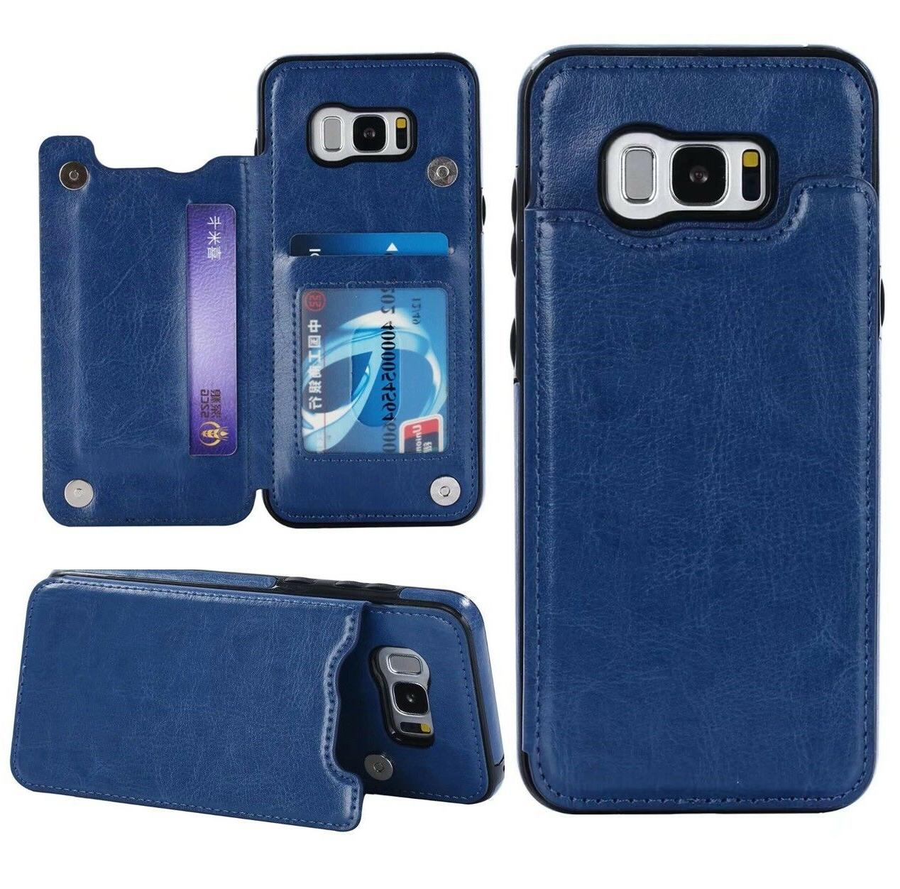 For Samsung 9 / S10+ Plus Card Flip Leather Wallet Case