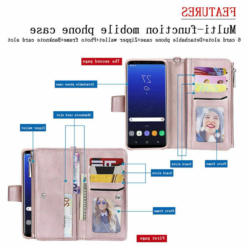 For Samsung S9 Plus Note8 Removable Leather Case
