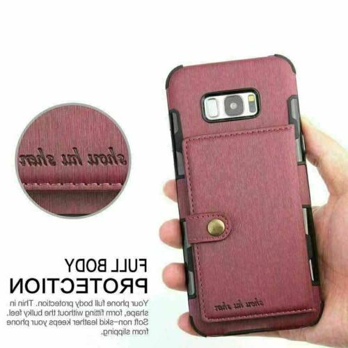 For S20 S9 S8 Plus 8 Wallet