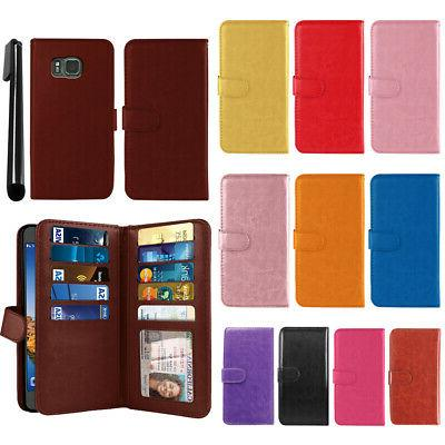 For Samsung Galaxy S7 ACTIVE Flip Holder Wallet Cover Case W