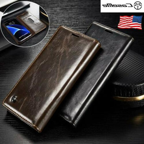 For Samsung Galaxy S7 Edge /S7 Leather Case Wallet Card Hold