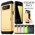 For Samsung Galaxy S7 edge Wallet Card Pocket Rugged Silicon