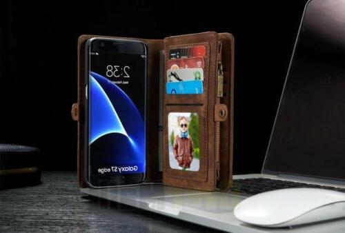 Samsung Leather Removable Magnetic Flip Case Cover