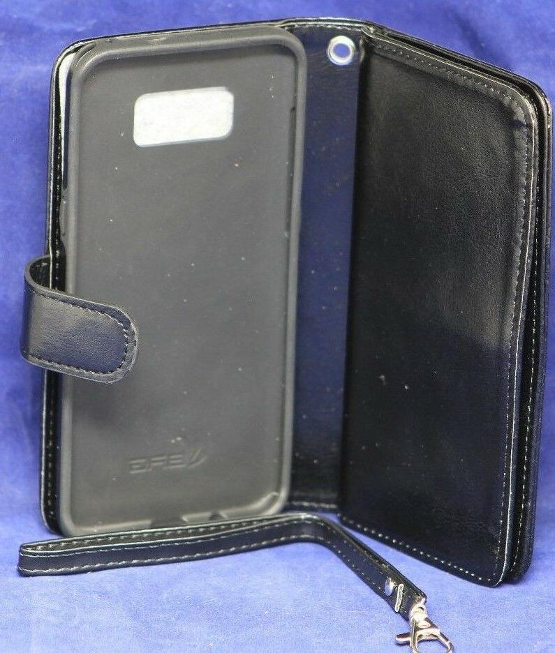 Samsung Galaxy Black Wallet Case Phone