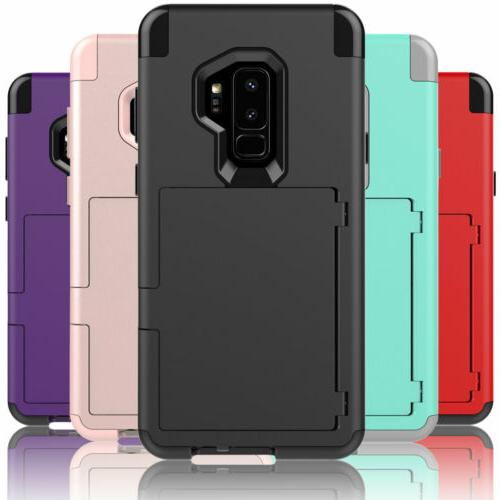 For Galaxy S8 S9 360° Shockproof Wallet Phone Case