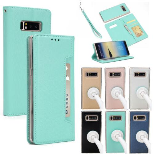For Samsung Galaxy S9/Note 8 Leather Removable Wallet Flip C