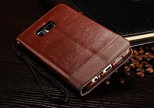 Samsung Galaxy S8 Plus PU Case Card Photo Frame Slot Cover Wallet Money