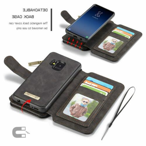 For Galaxy S8 Detachable Leather Wallet