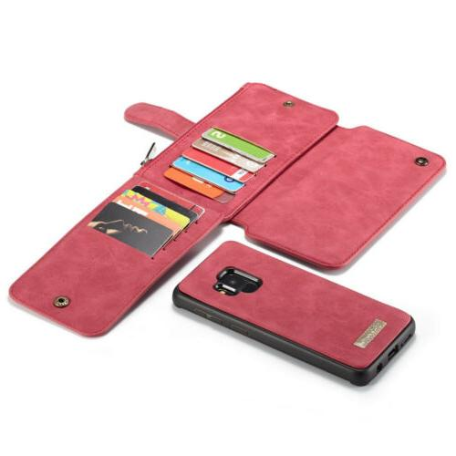 For S8 Plus Protective Detachable Leather Wallet Magnetic Case