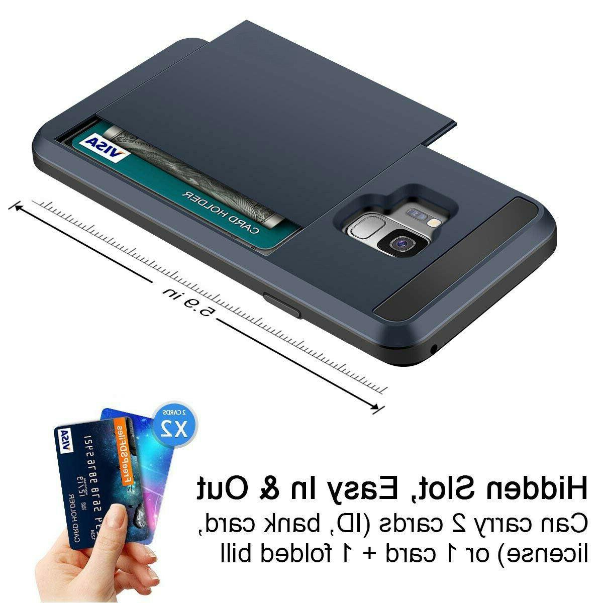 For Galaxy S8 Wallet Card Case Screen