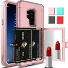 For Samsung Galaxy S9/S9+ Plus Hybrid Mirror Wallet Card Hol