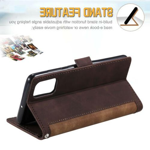 For S20 Ultra S10 Plus S9 Note 10 Leather