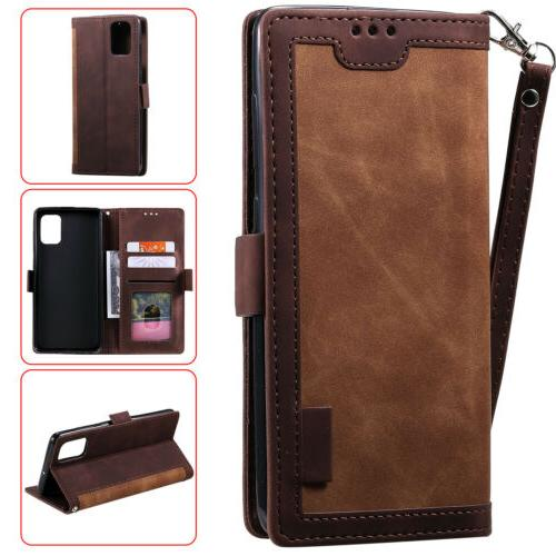 For Samsung Note S20 S10 S9 Leather Wallet Cover