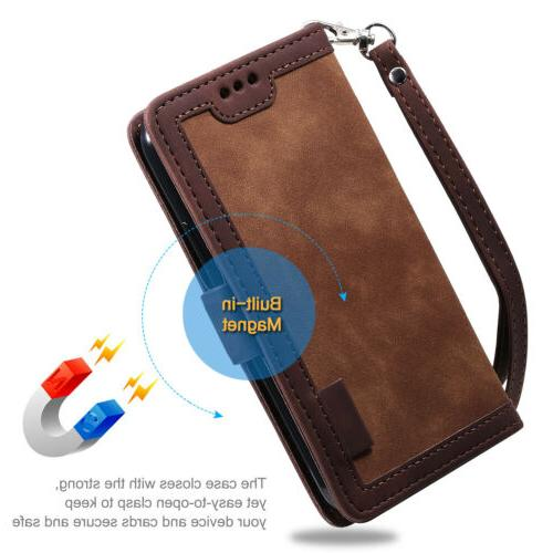 For Note 20 S20 S9 Case Leather Flip