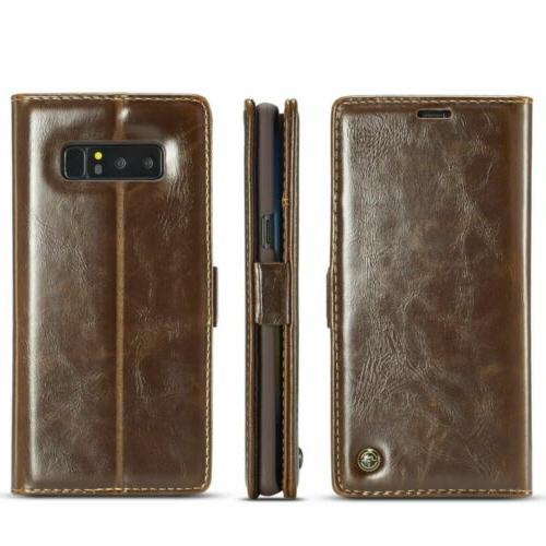 Samsung Note S9 S10 Flip Phone Case Cover