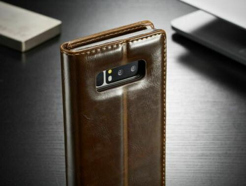 Samsung Note S9 Flip Leather Wallet Stand Phone Case Cover