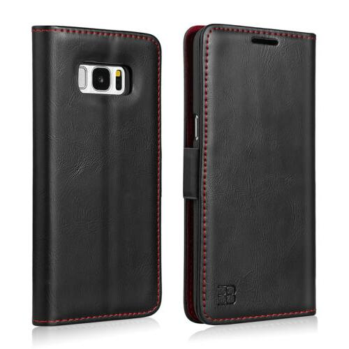 For Samsung S9 Plus Flip Slot Leather Case