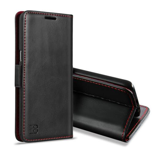 For Samsung Note 9 S9 Plus Luxury Flip Leather